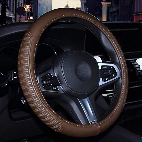 La cubierta del volante universal de 15 pulgadas en relieve de la tela escocesa de cuero del diseño resistente al desgaste confortable sensación de suavidad antideslizante cuatro estaciones universal