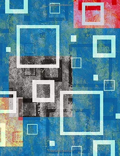 Junk Journal Square Abstract Art Dot Grid Paper: Cut Glue Create Magazine Collage Book