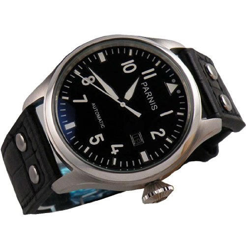 Fanmis 47mm Black Dial Big Pilots Automatic Mechanical Luxury Men's Wrist Watch Luminous Marks