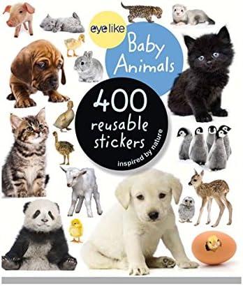 Workman Publishing WMP0761174837 Eyelike Baby Animals 400 Reusable Stickers