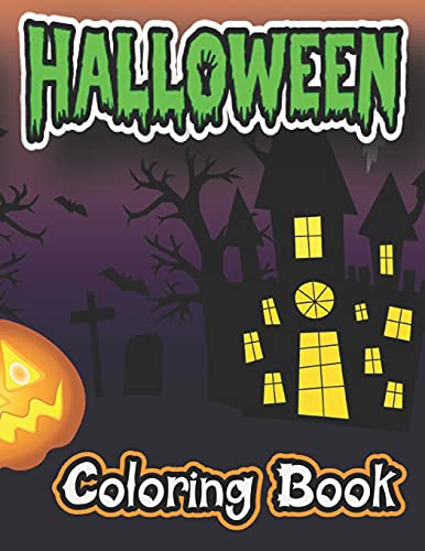Halloween Coloring Book: New and Expanded Edition, 50 Unique Designs, Jack-o-Lanterns, Witches, Haunted Houses, and More