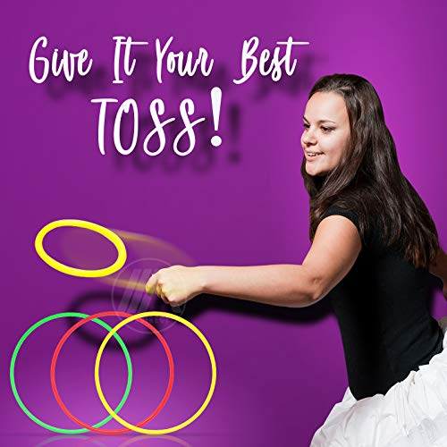 """Inflatable Banana Ring Toss Bachelorette Party Games - Bridal Shower Game, Decorations and Supplies for Engagement Parties, Girls Night Out & Bride to Be Favors - 26"""" Banana with 3 Rings for Tossing"""