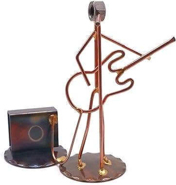 Bass Guitar Collectible Handmade Metal Art Figurine, Desk Accessories, Trophy, Boss Gift, Office Décor, Business Professional