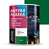 PINTURA PIZARRA Para pintar, dibujar y escribir con tiza sobre paredes. (750 ml, VERDE)