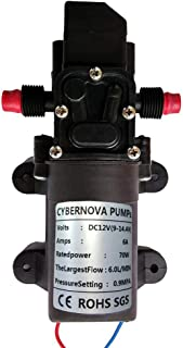 CYBERNOVA DC12V 131PSI 6L/m agua dulce de agua de alta presi
