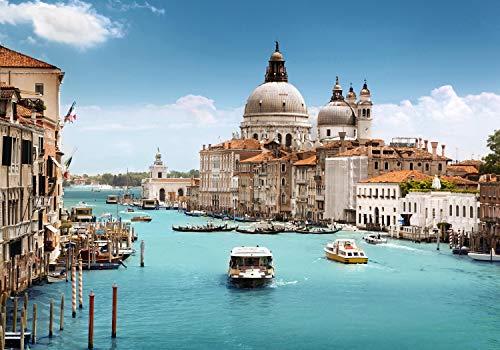 wandmotiv24 Fototapete Venedig, Basilica Santa Maria XXL 400 x 280 cm - 8 Teile Fototapeten, Wandbild, Motivtapeten, Vlies-Tapeten Italien, Großstadt, Urlaub M0286