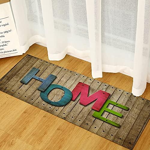 OPLJ Alfombra Absorbente Antideslizante para Cocina y baño con impresión 3D para el hogar, Alfombra para Puerta de Entrada del Pasillo de...