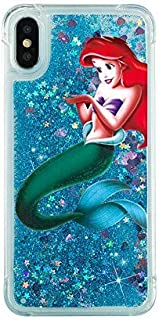 Gotech Compatible for iPhone X 10 or iPhone XS Case Brilliant Luxury Star Twinkling Glitter Protective skin,Bling Bling Little Mermaid Ariel Snow White Eating/ Holding Logo Apple (Ariel)