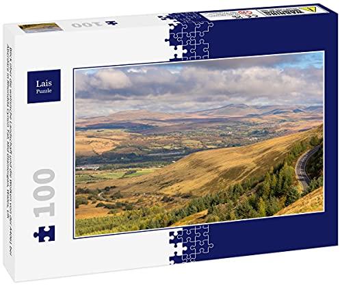 Lais Puzzle Vista sobre el Campo galés y Las Nubes Desde la...