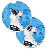 Caroline S Treasures Bleu dogue allemand Lot de 2Porte-gobelet de voiture Dessous-de-verre Lh9371bucarc, 2.56, Multicolore