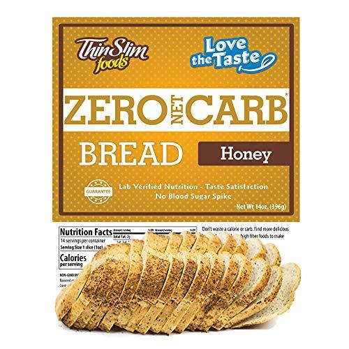 ThinSlim Foods 45 Calorie, 0g Net Carb, Love-The-Taste Low Carb Bread Honey