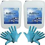 Hoyer AdBlue 2 recipientes de 10 L, incluye vertedor + 2 pares de guantes de nitrilo...