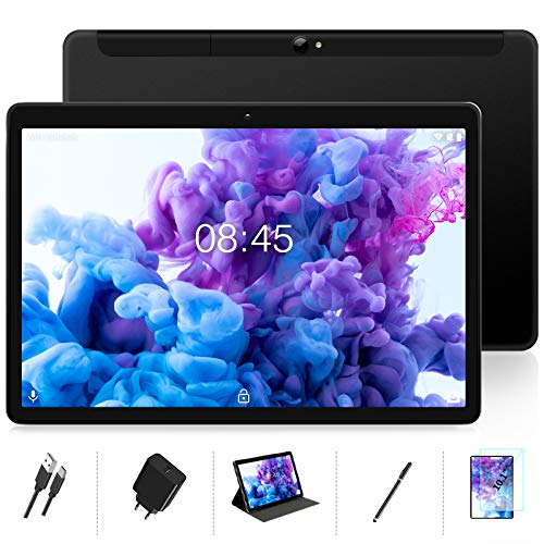 MEBERRY Tablet 10 Pulgadas Android 10.0 Ultrar-Rápido Tablets 4GB RAM + 64GB ROM - WI-FI+Cellular | Certificación Google GMS | Dual SIM & Dual Cámara | 8000mAh | Bluetooth | GPS - Nergo