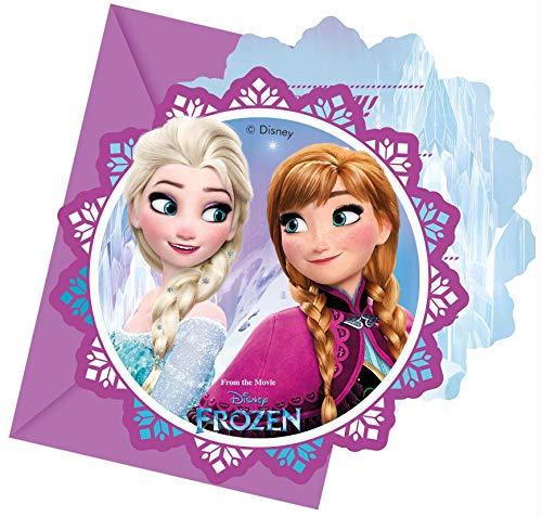 Folat B.V. Procos Disney Frozen 86919 - Invitaciones con sobre, Multicolor