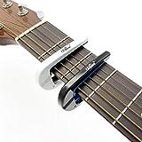 XYHHStor Cejilla de Guitarra , Guitarra acústica eléctrica Capo Capo Metal Capotrase también para Bass Ukulele Color Negro/Blanco para Guitarra (Color : White)