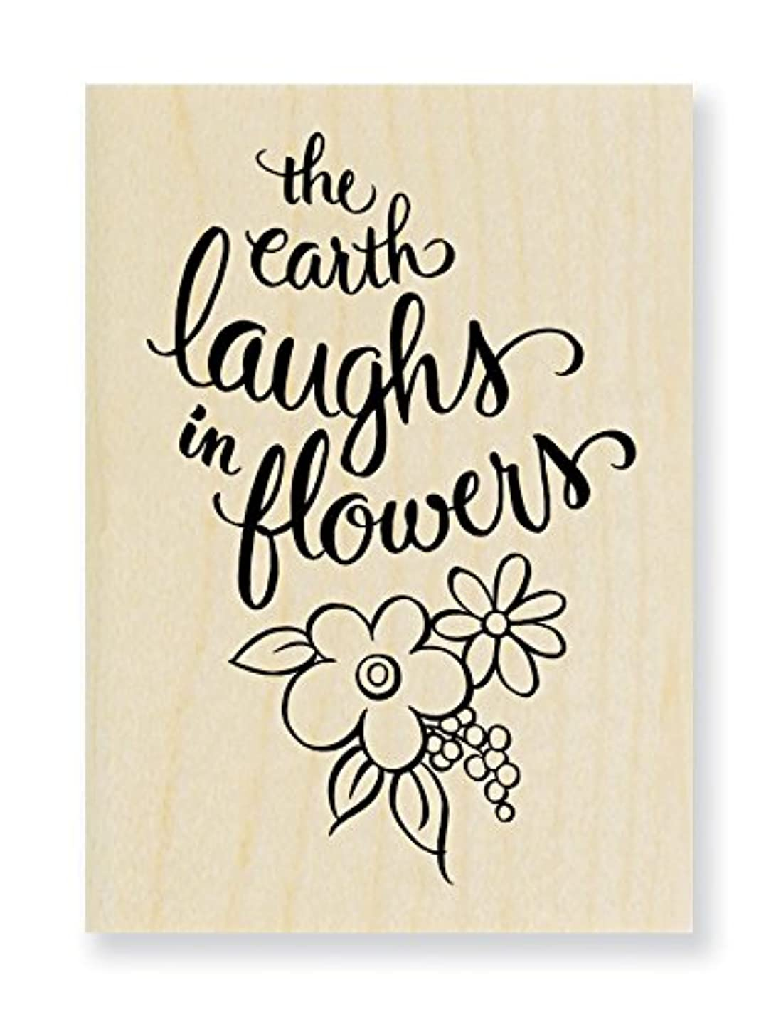 STAMPENDOUS Wood Rubber Stamp Earth Laughs jtqvxyhia