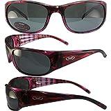 BlueWater Polarized Bahama Mama 3C Sunglasses Pink Frames Smoke Lenses