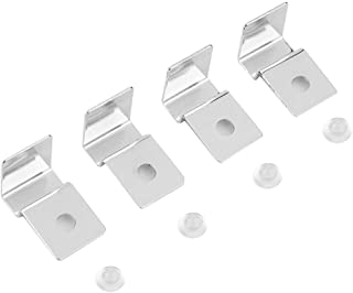 TOPINCN 4Pcs Aquarium Cover Bracket Stainless Steel Fish Tank Glass Cover Clips Fish Tank Lid Holder Support