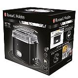 Russell Hobbs 21681-56 Toaster Retro Classic Noir, Retro Countdown-Anzeige, Schnell-Toast-Technologie, 1300 Watt, schwarz - 2