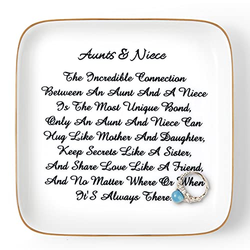 """Auntie Gifts from Niece, """"Aunts&Niece"""" Trinket Dish for Aunt & Niece, Birthday Gift for Aunt..."""