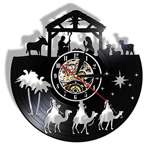 Reloj de Pared Vintage Christian Vinyl Record Reloj de Pared Menino Je
