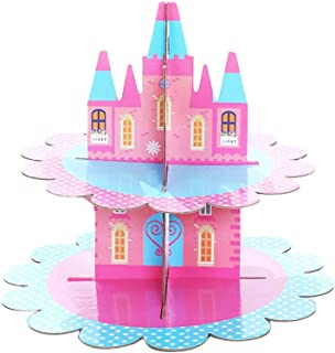 Shimigy Disposable Paper Cake Stand Bronzing Two-Color Paper Birthday Party Dessert Table