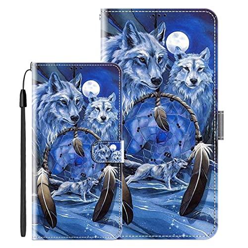 Klapphüllen für Oppo R9 Plus/Oppo F1 Plus Schutzhülle Mit Magnetverschluss Flip Etui Lederhülle Handytasche Oppo F1 Plus/Oppo R9 Plus Hülle Klappbares Leder Brieftasche,Wolf Muster-2