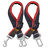 COMSUN Dog Seat Belt, 2 Pack Adjustable Pet Car Seatbelt, Dog Harness Safety