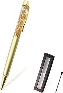 【ThanksSender】金箔入り ボールペン ハーバリウム ギフト 5色 還暦祝い 金運アップ… (金色)