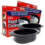 Rapid Rice Cooker | Microwave Rice Blends in Less Than 3 Minutes | Perfect for Dorm, Small Kitchen,...