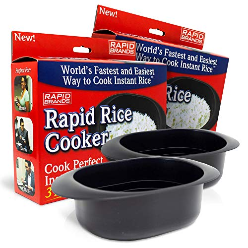 Rapid Rice Cooker   Microwave Rice Blends in Less Than 3 Minutes   Perfect for Dorm, Small Kitchen,...