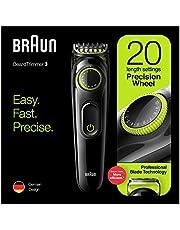 Braun BT3221 Beard Trimmer For Men Cordless and Rechargeable Hair Clipper, Volt Green - Pack of 1