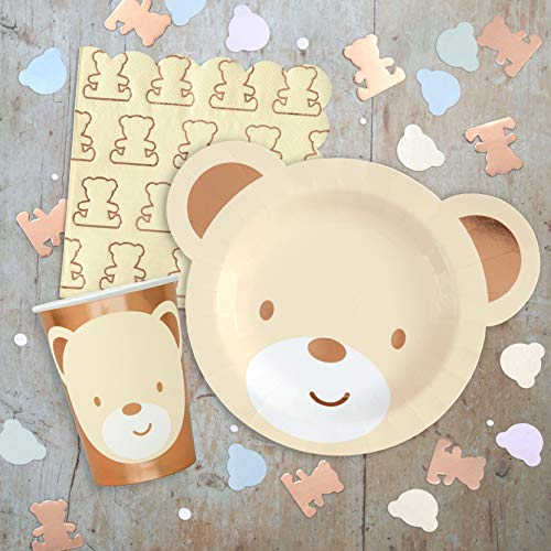 Hatton Gate Teddy Bear Premium Geschirr-Pack für 8 Gäste enthält Plates Tassen Napkins Banner Latex Luftballons und Konfetti...