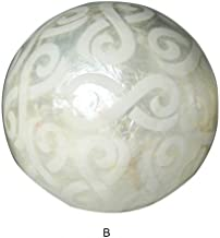 B Hogar y M/ás Bola Decorativa de n/ácar con dise/ño geom/étrico France