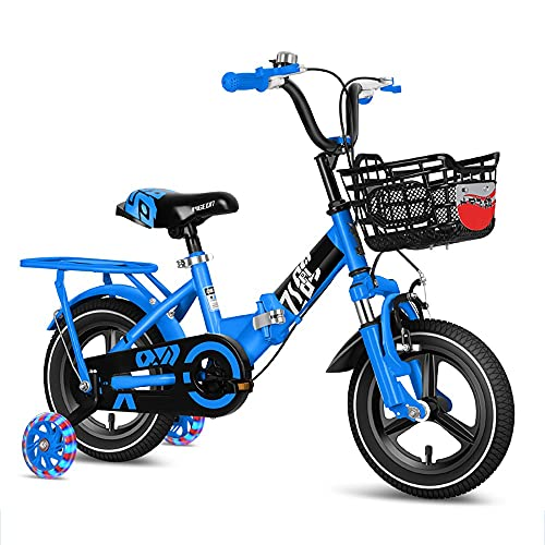 DODOBD Bicicleta Infantil con Pedales para Niño y Niña 3-12 Años, Ruedines de Entrenamiento Desmontables y Frenos, Ruedas 12 14 16 Pulgadas, Asiento del Manillar Regulable en Altura