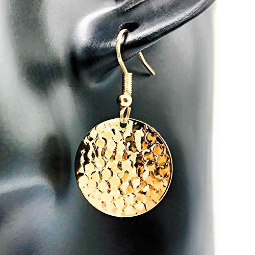 GOLDEN DIVINE - Ohrringe rund mit Struktur hängend Farbe: gold