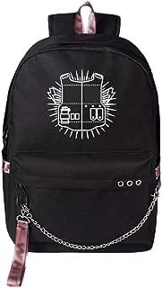 人気のダブルショルダーバックパックユニセックスカジュアルスクールバッグラップトップバッグカレッジブックバッグデイパック旅行リュックサック、素敵なギフト,黒,B