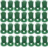 KAHEIGN 100 Piezas Invernadero Clips Extensores, 3.6cm El Plastico Clips De Sombreado Fijación De Clips Giratorios Para El Sombreado De La Red De Burbujas De Aislamiento De Invernadero