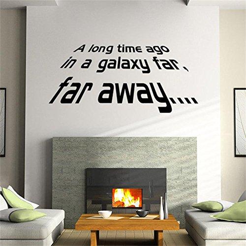 HerZii Póster de Star Wars adhesivos pegatinas de vinilo de pared para niños habitaciones decoración del hogar bricolaje decoración mural desmontable