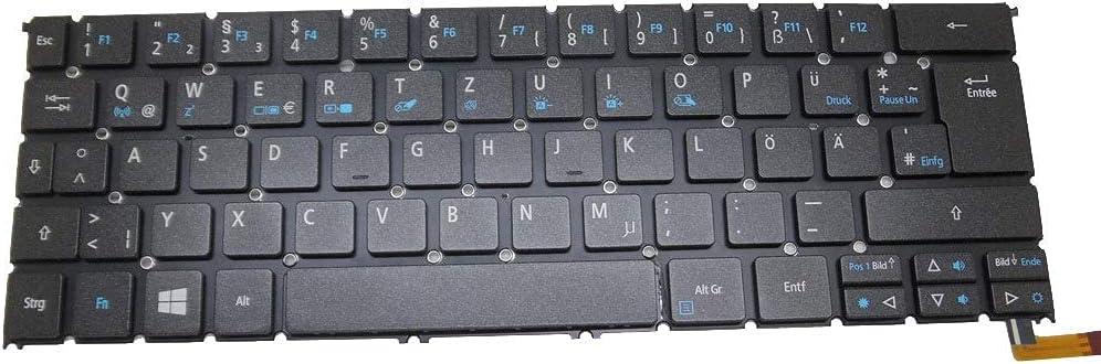 MTGJFDDFO Laptop Keyboard Compatible with ACER R7-371T MP-13C66D0J9201 AEZS8G00020 NK.I1213.02E Without Frame German GR Backlit New