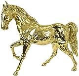 Casa Padrino Figura de Bronce de Lujo Caballo Oro 80 x 20 x A. 70 cm - Escultura de Bronce - Figura de Decoración - Accesorios de Decoración - Colección de Lujo