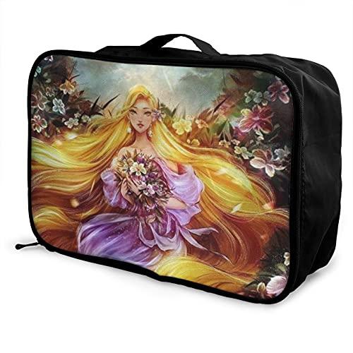 Rapunzel Bolsa de viaje impermeable a la moda, ligera, de gran capacidad, portátil, bolsa de equipaje de fin de semana, bolsa de equipaje durante la noche