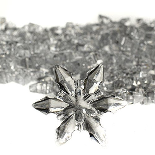 Approximately 120 Small Acrylic Snowflakes for Winter Weddings, Holiday Party Favors or Christmas Decorating