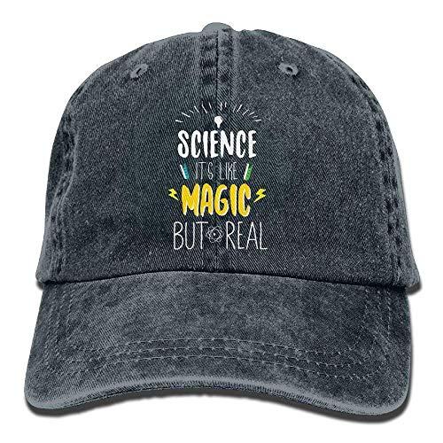 Wetenschap Het Is Als Magie, Maar Echte Volwassenen Verstelbare Cowboy Cap Denim Hoed voor Outdoor