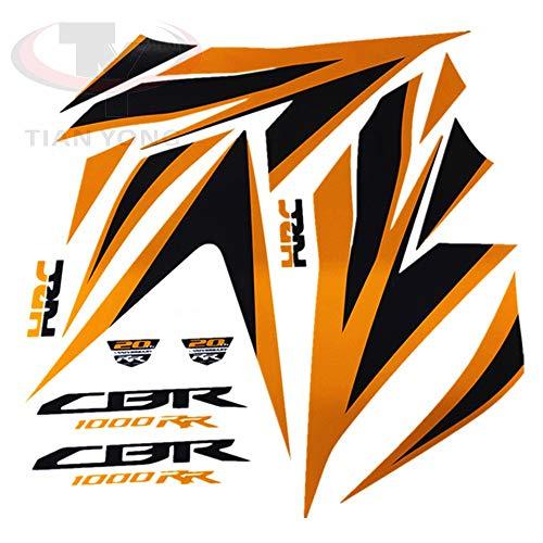 Motocicleta de alta calidad Cargador de calcomanía FIT CBR1000 para HONDA CBR1000RR 2012-2014 Protector completo Pegatina de carreras Decorativo (Color : Style 2)