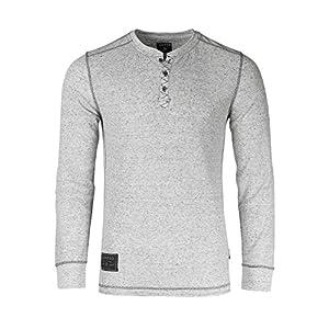 Men's Vintage Burnout Garment Wash Long Sleeve Lightweight Thermal Henley