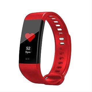 Davide Alisa Reloj Inteligente Pantalla De Color Hombres Fitness Pulsera Corazón Frecuencia Monitor Smart Band Mujeres Ip67 Waterproof Activity Tracker 40 * 20 * 10Mm Rojo