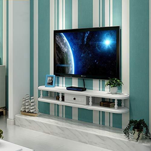XUQIANG Mueble de Estante for TV montado en la Pared Estante de Juegos de Consola de Entretenimiento Multimedia con Muebles de cajones Plataforma de Montaje en Pared (Color : A, Size : 120cm)