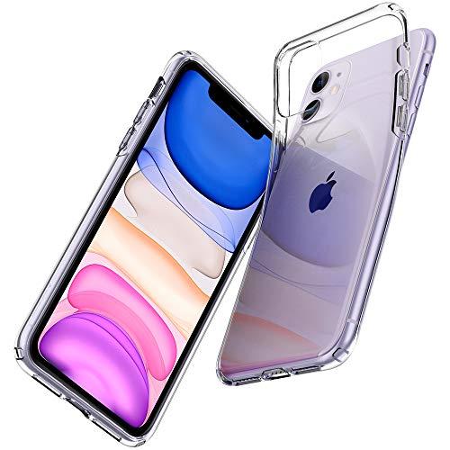 【Spigen】 iPhone 11 ケース 6.1インチ 対応 TPU 傷防止 レンズ保護 超薄型 超軽量 Qi充電 ワイヤレス充電 クリア リキッド・クリスタル 076CS27179 (クリスタル ・クリア)