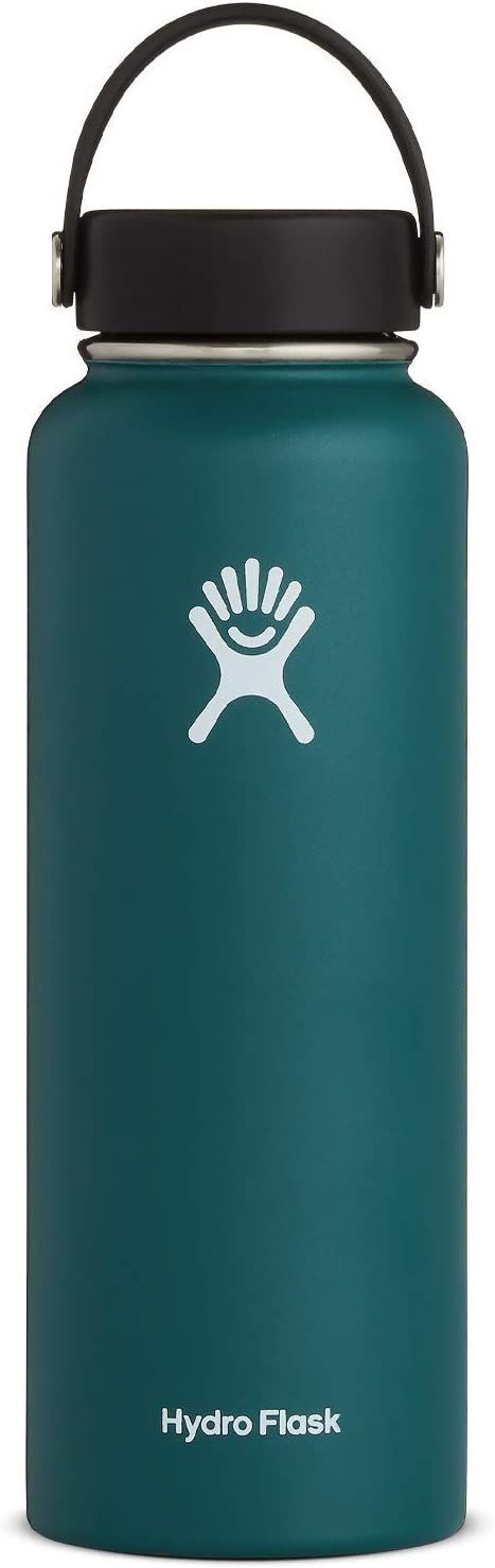 Hydro Flask Water Bottle - Stainless Steel & Vacuum Insulated - Wide Mouth with Leak Proof Flex Cap - 40 oz